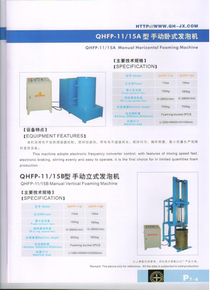 High Speed Vertical Foam Making Machine With Electronic Frequency Converter Control