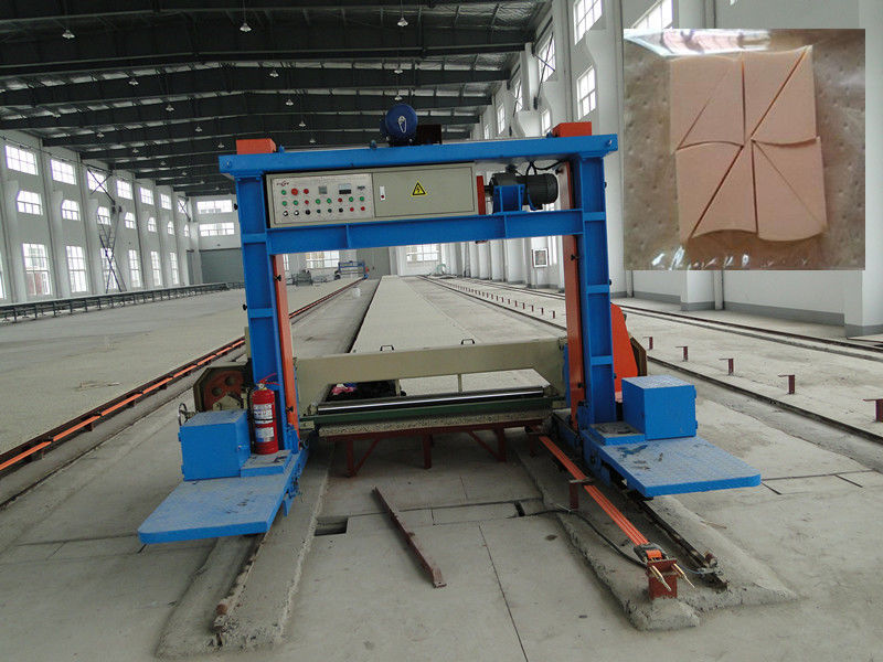 Automatic Long Sheet Sponge Cutting Machine For Rigid PU Foam 60m / Min