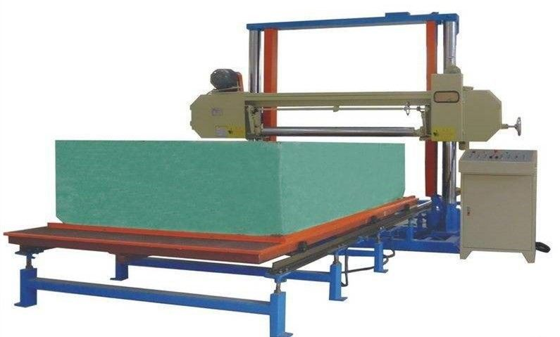 Horizontal Polyurethane / PU Foam Cutting Machine For Sponge Block 8.12KW