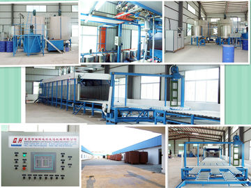 Full Automatic Continuous Polyurethane Foam Machine , Foam Mattress Making Machine