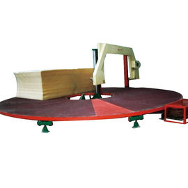 China Round Table Mattress Sponge Cutting Machine Can Cut 3-5 Sponge Block At One Time factory