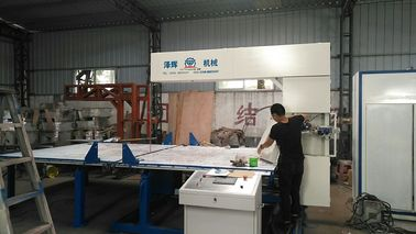 Vertical Digital Sponge Cutting Machine , Automatic Foam Cutting Machinery For Sponge Mattress