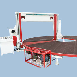 Horizontal Circular / Rotary Sponge Cutting Machine , Foam Block Cutting Machine