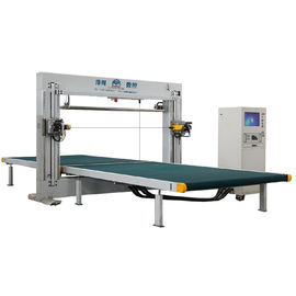 Horizontal And Vertical Blades Combined Type CNC Contour Foam Cutting Machine Dual Type
